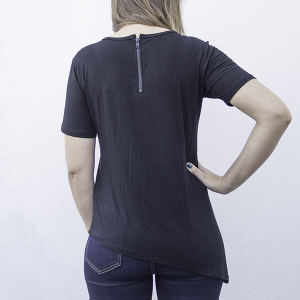 T-Shirt Long Podqueen | Preta