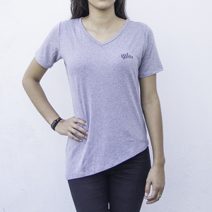 T-Shirt Long Podqueen | Cinza