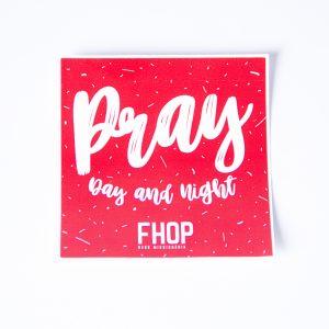 Adesivo Pray Day & Night