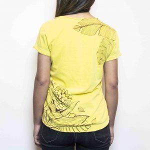 Camiseta Folhas Mostarda | Feminina