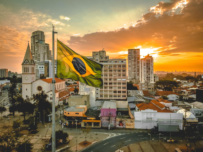 por do sol na cidade onde está o missionário no Brasil
