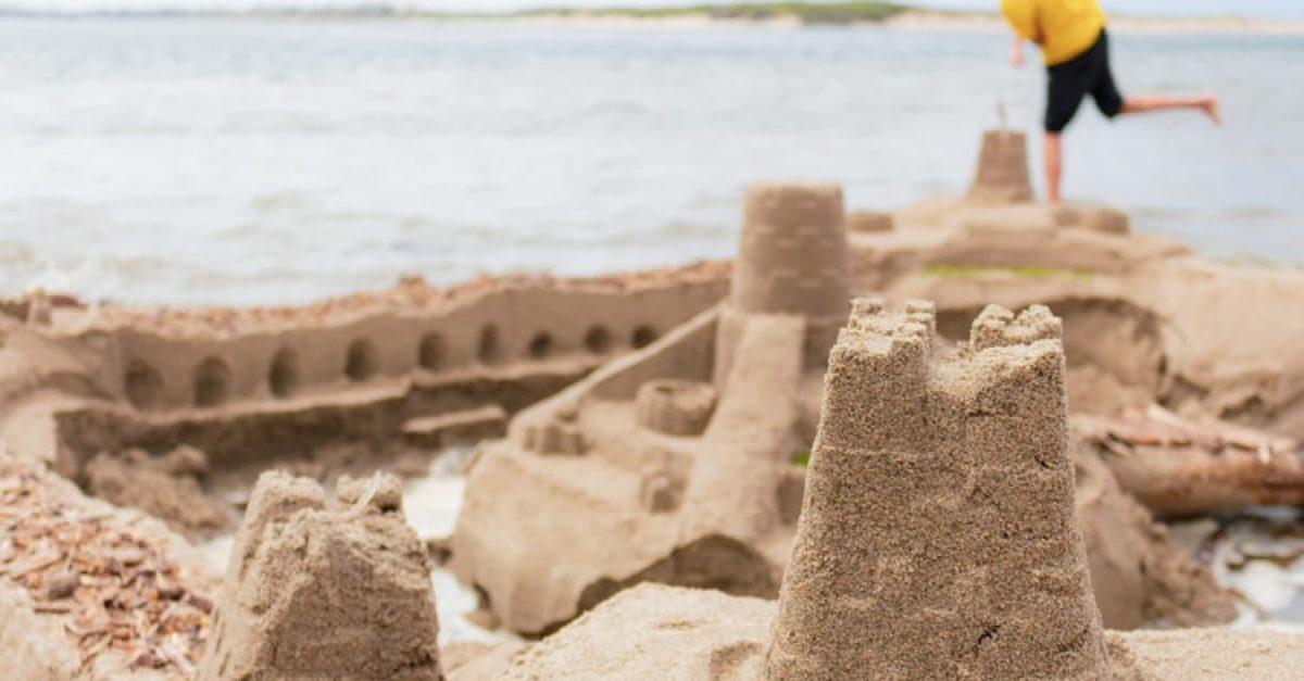 Não construa um castelo de areia